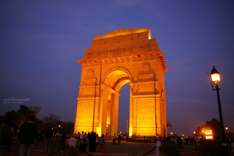 India Gate New Delhi at Night