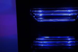 blue LEDs in CPU