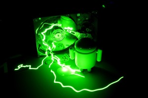 green laser android apple google harddisk
