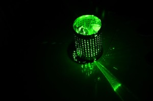 laser lightpainting dustbin