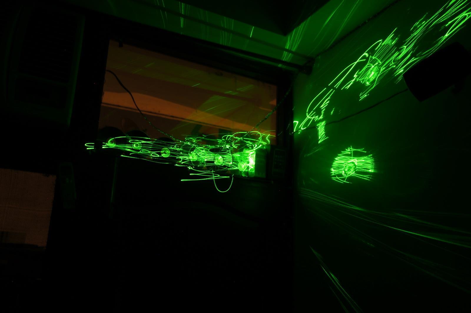 Green Laser Light Painting