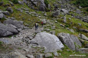 trekking to trihund via rocky mountains