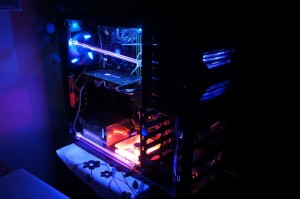 High end CPU by cooler master ccabinet with custom Lights