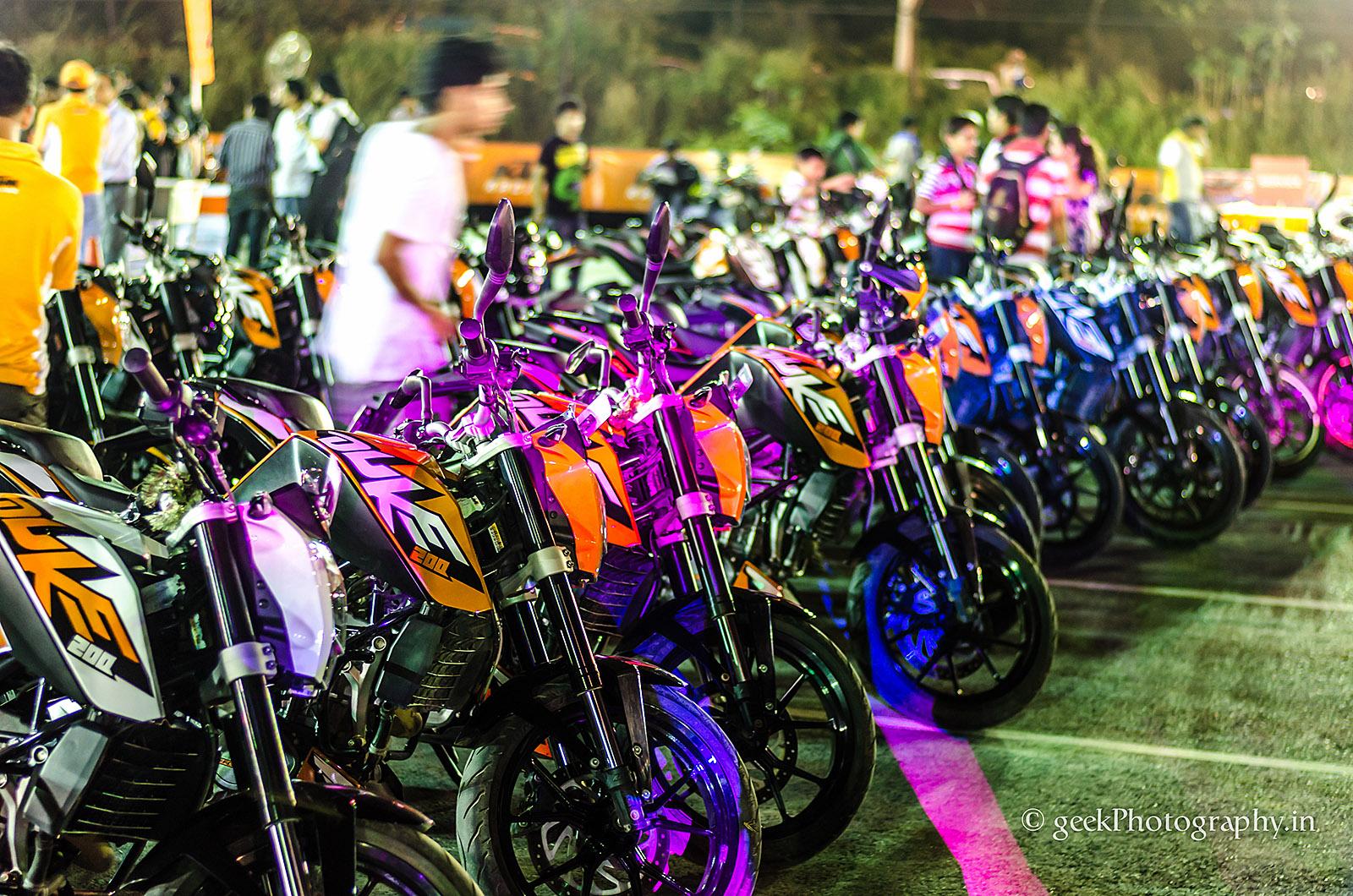 Ktm Orange Day Delhi Night