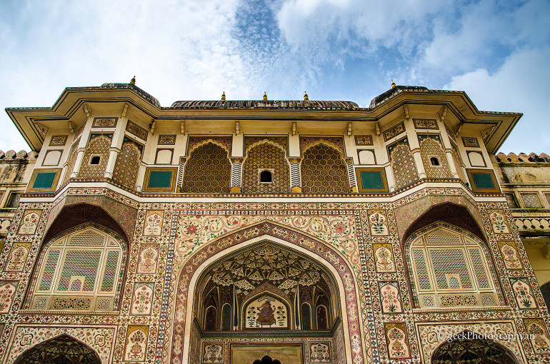 Amer Fort, Sheesh Mahal Architecture, Jaipur