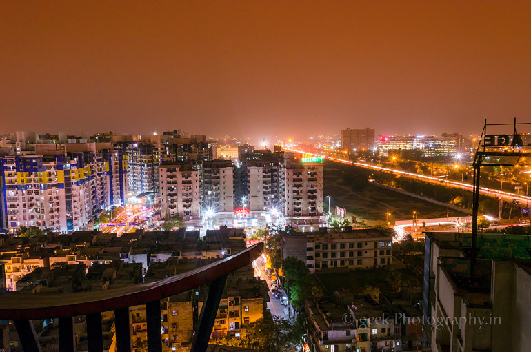 Indirapuram Night Skyline
