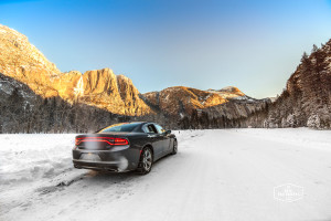 Dodge Charger in Frozen Yosemite