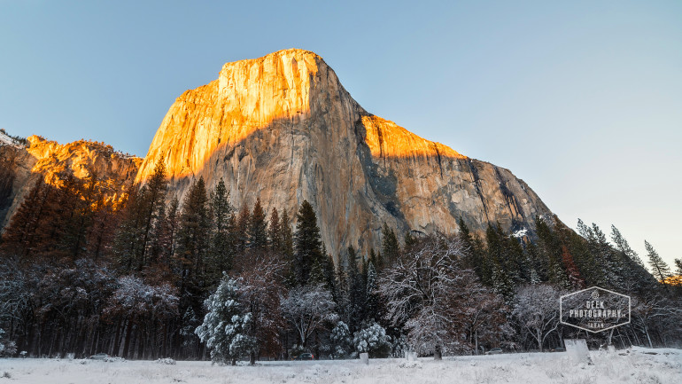 El Capitan Sunset during Winters