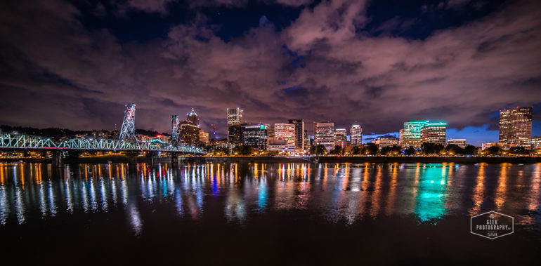 Portland Night Cityscape – City of Passion